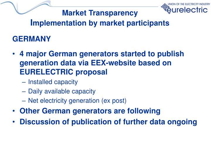 Market Transparency