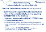 market transparency i mplementation by market participants1
