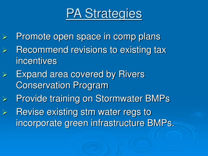 PA Strategies