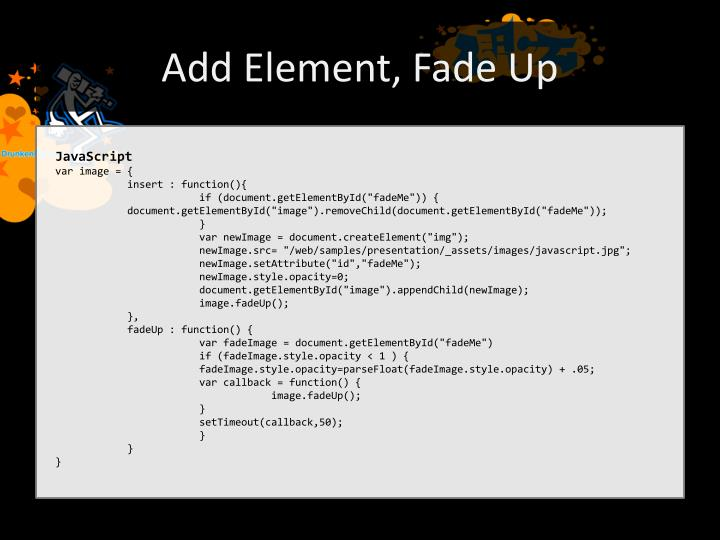 Add Element, Fade Up