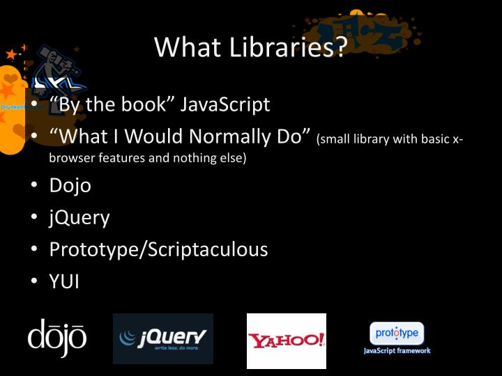 What Libraries?