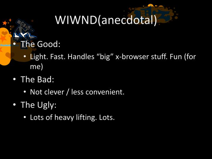 WIWND(anecdotal)