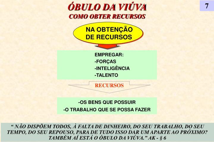 ÓBULO DA VIÚVA