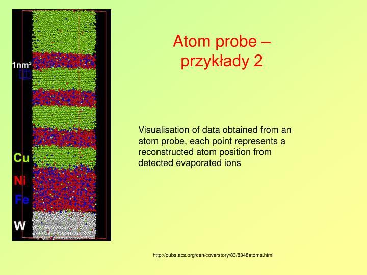 Atom probe – przykłady 2