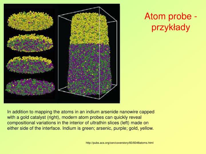 Atom probe - przykłady