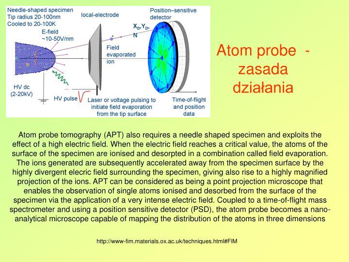 Atom probe  - zasada działania