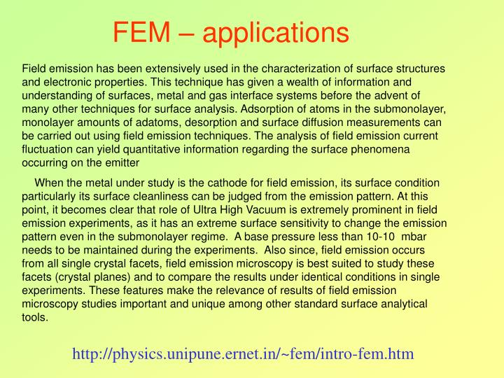 FEM – applications
