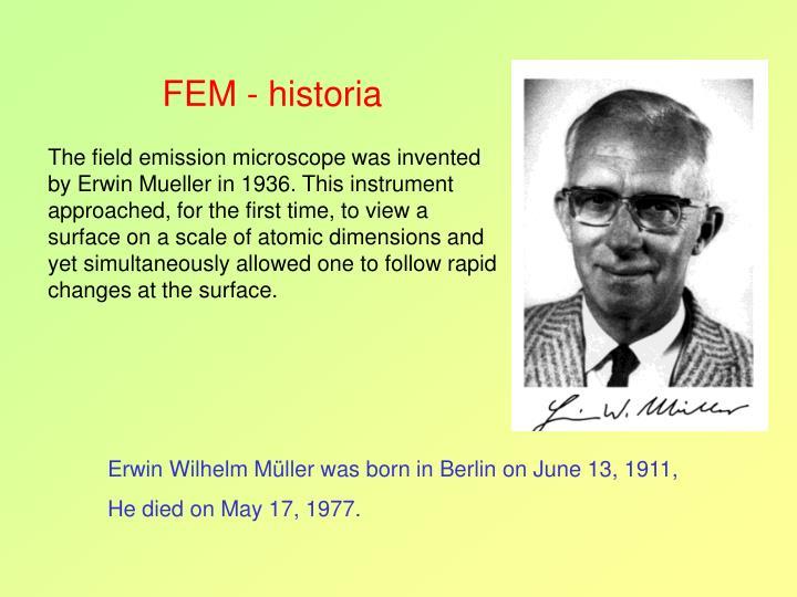 FEM - historia
