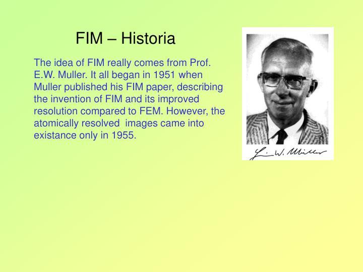 FIM – Historia