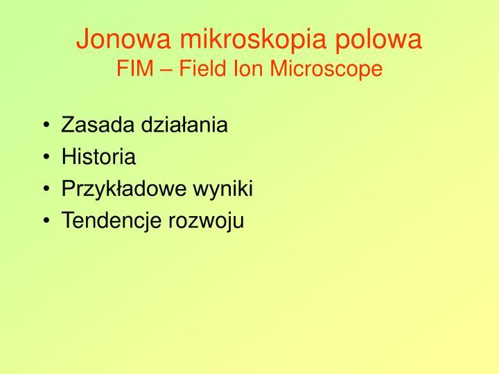 Jonowa mikroskopia polowa