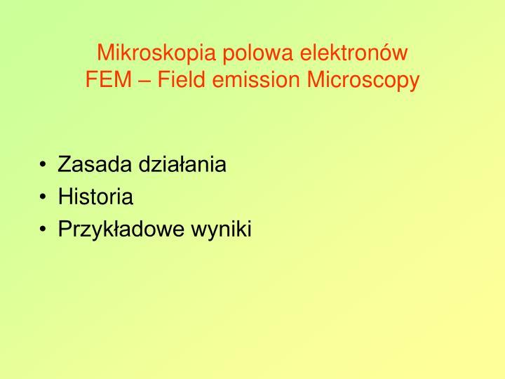 Mikroskopia polowa elektronów