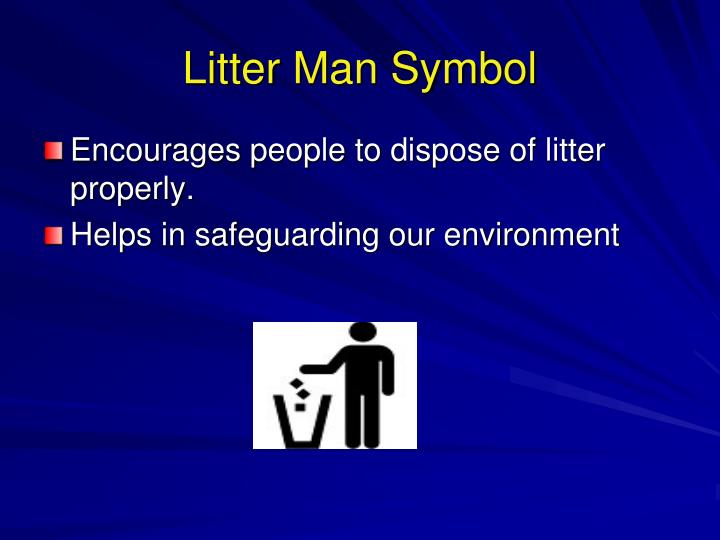 Litter Man Symbol