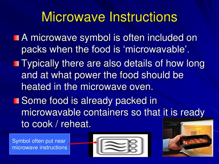 Microwave Instructions