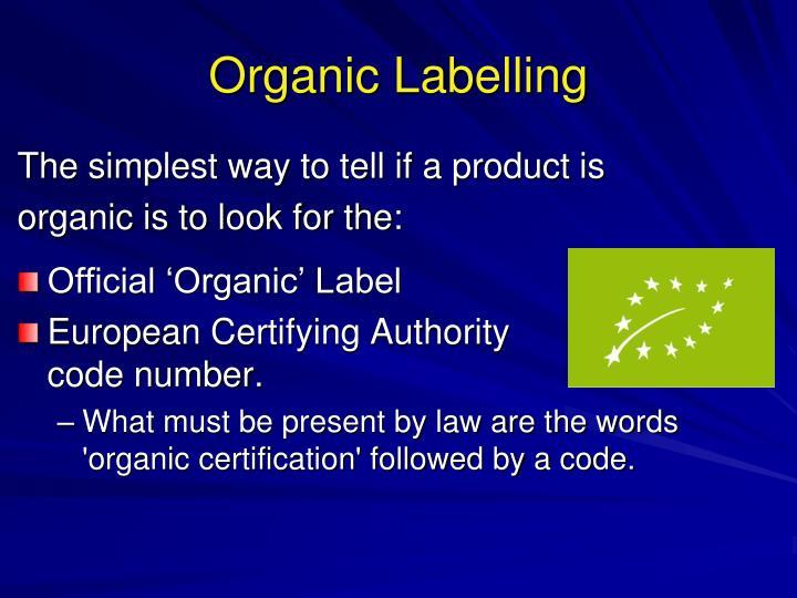 Organic Labelling