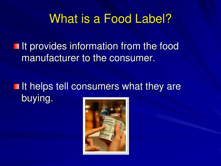 What is a food label