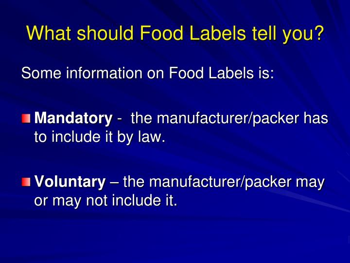 What should food labels tell you