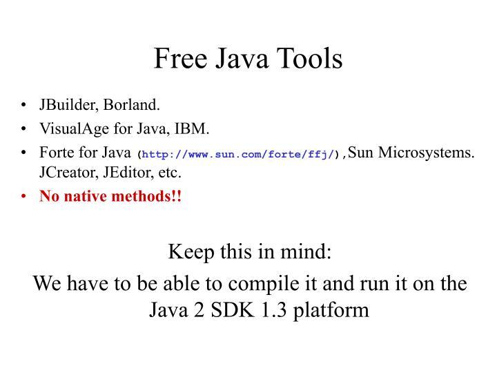 Free Java Tools