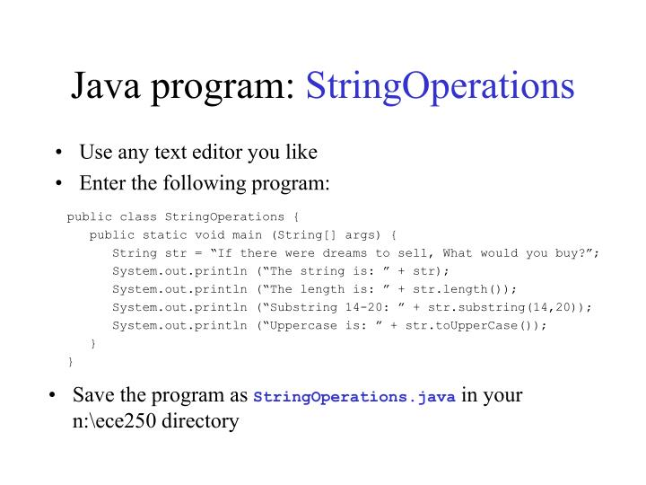 Java program: