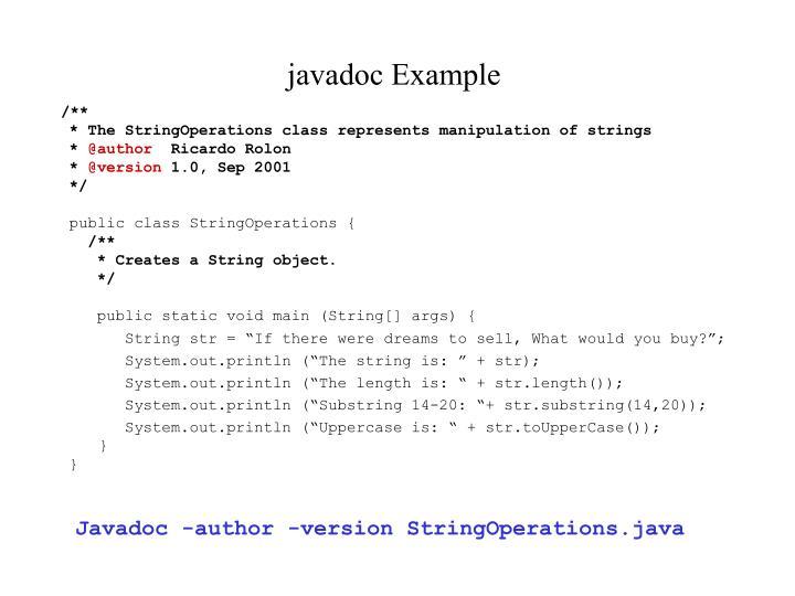 javadoc Example