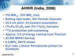 ahwr india 2008