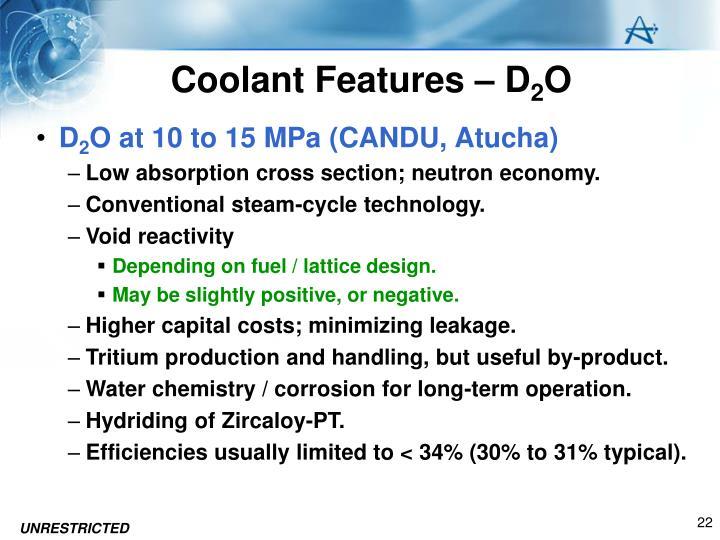 Coolant Features – D