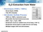 d 2 o extraction from water