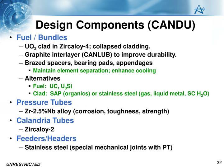 Design Components (CANDU)