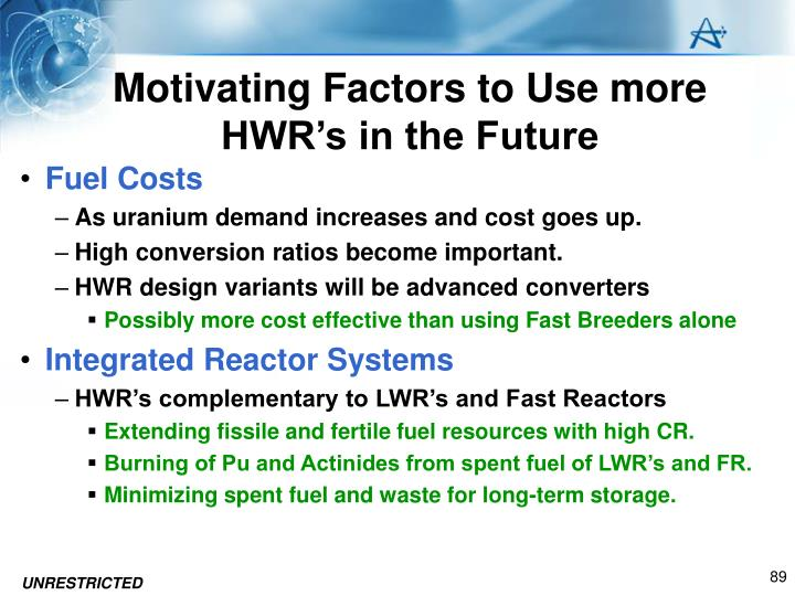 Motivating Factors to Use more HWR's in the Future