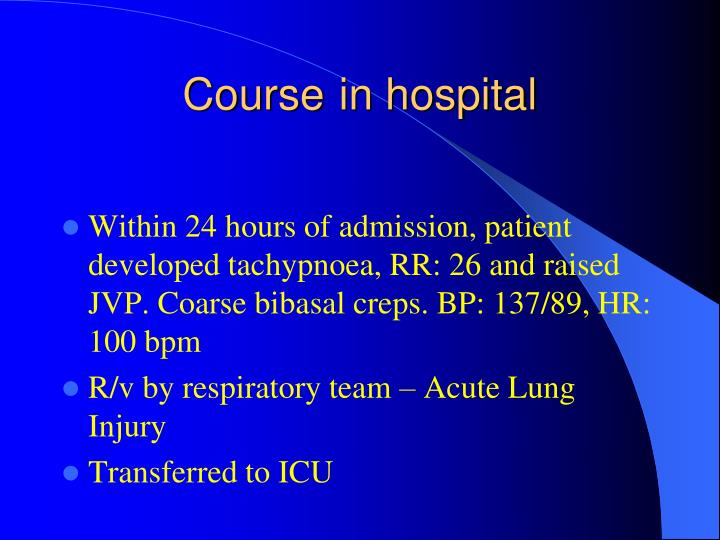 Course in hospital