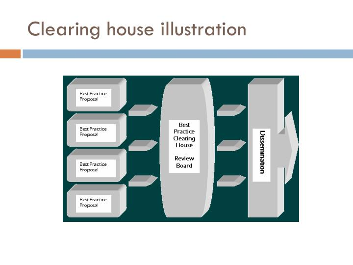Clearing house illustration