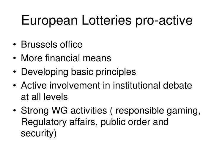 European Lotteries pro-active