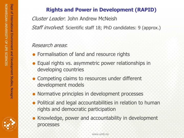Rights and Power in Development (RAPID)