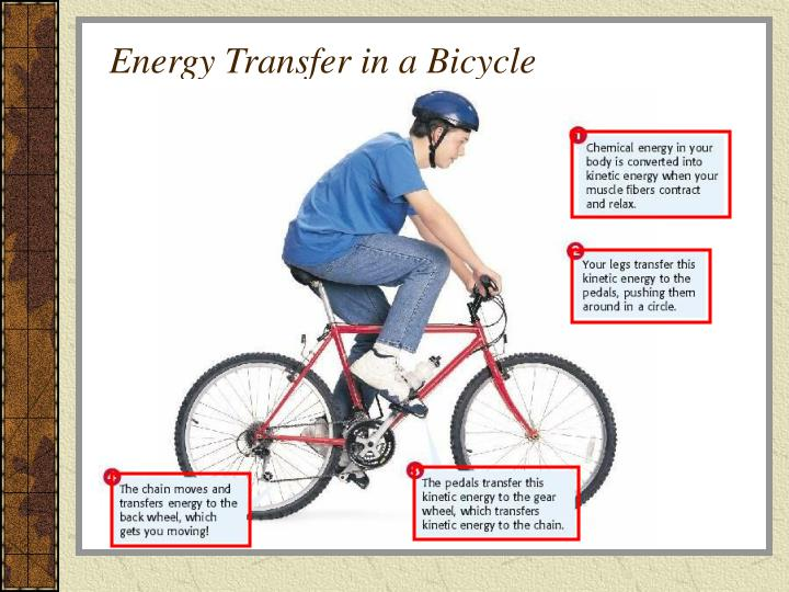 Energy Transfer in a Bicycle