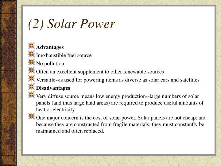 (2) Solar Power
