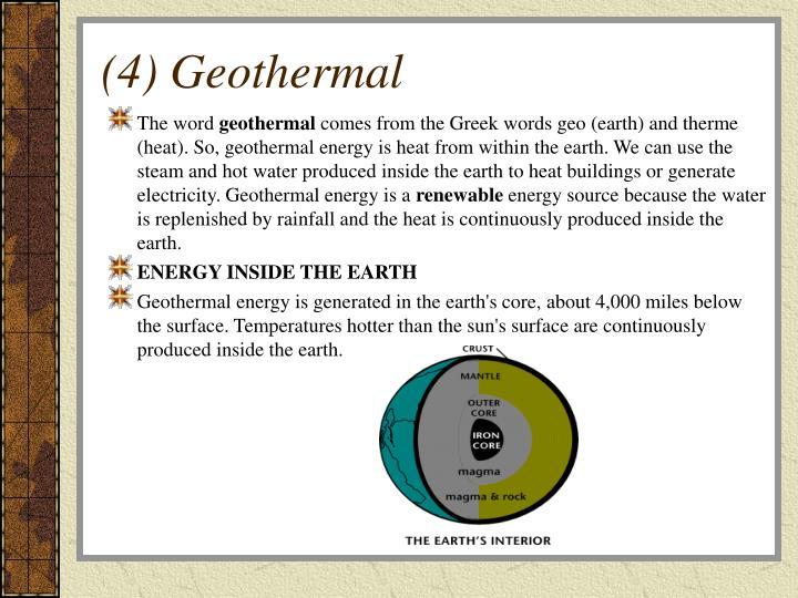 (4) Geothermal