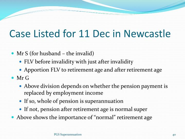 Case Listed for 11 Dec in Newcastle