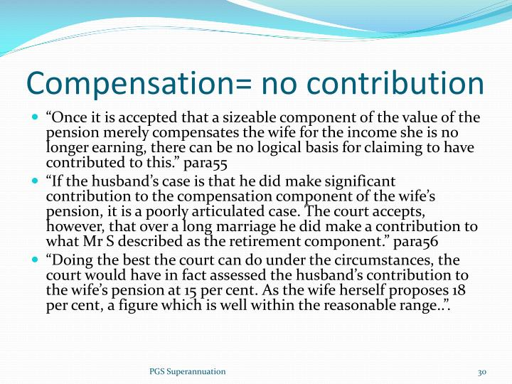 Compensation= no contribution