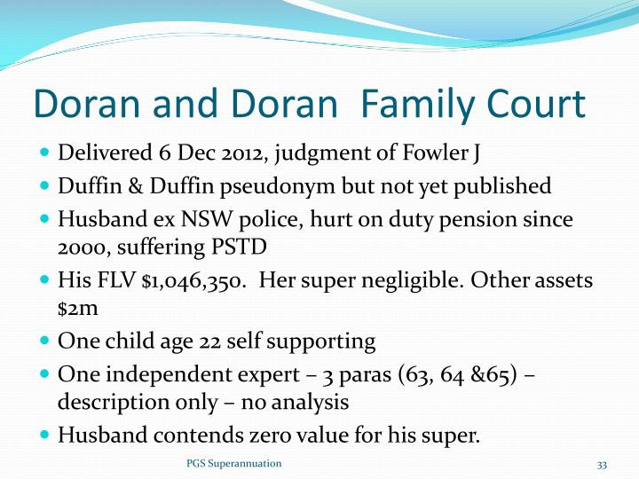 Doran and Doran  Family Court
