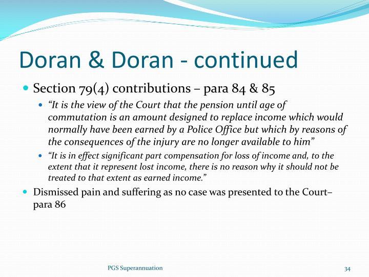 Doran & Doran - continued