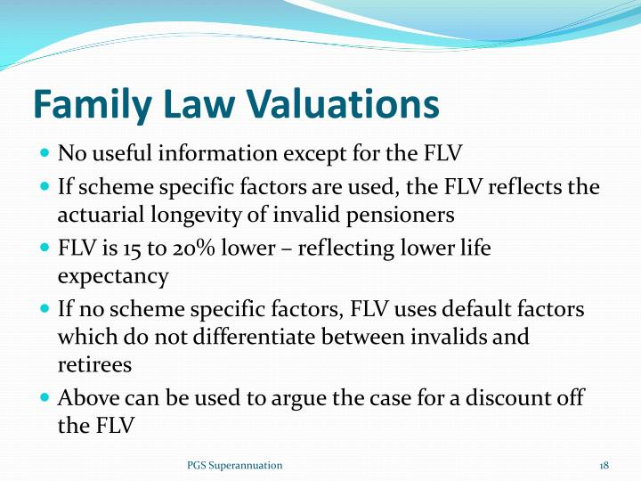 Family Law Valuations
