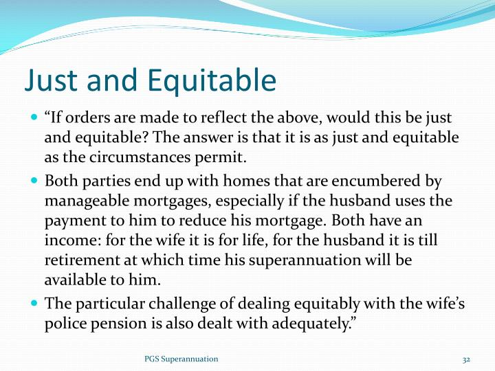 Just and Equitable