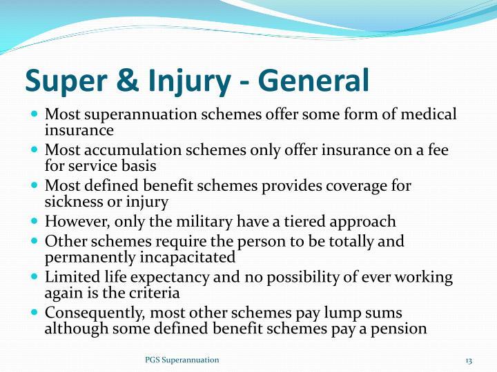 Super & Injury - General