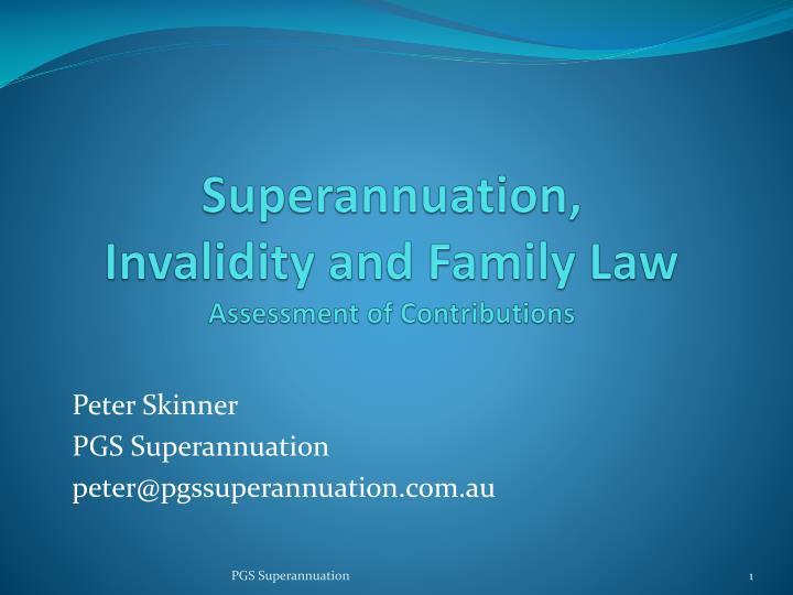 Superannuation,
