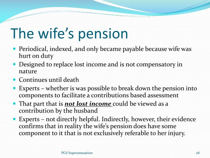 The wife's pension