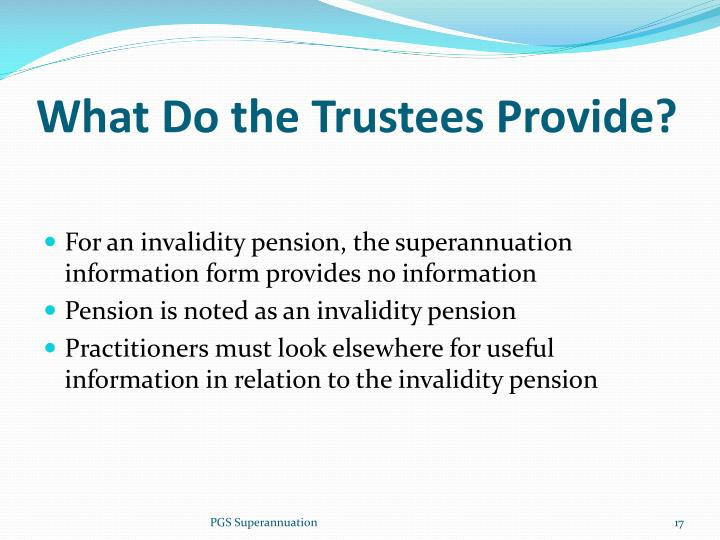 What Do the Trustees Provide?