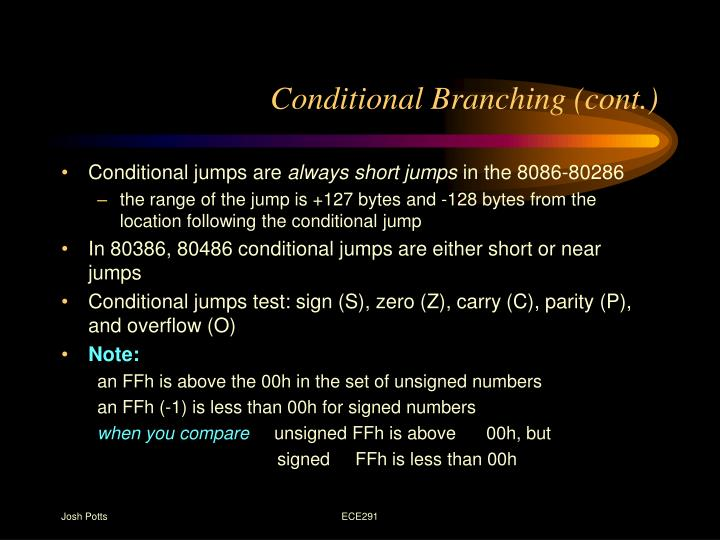 Conditional Branching (cont.)