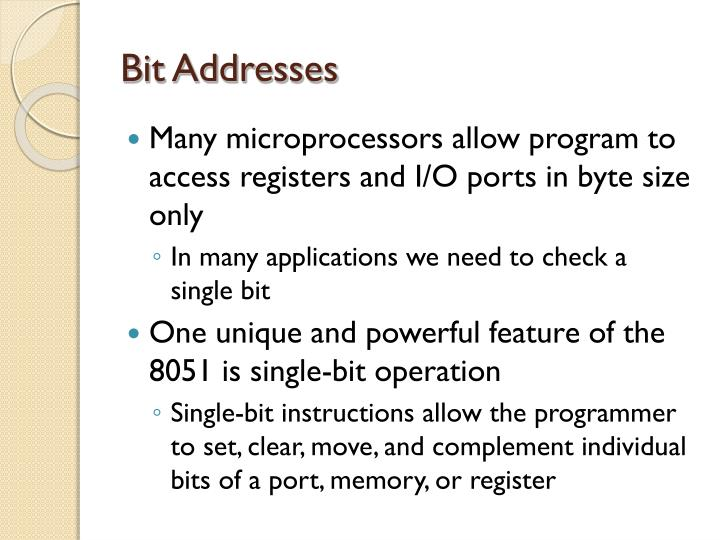 Bit Addresses