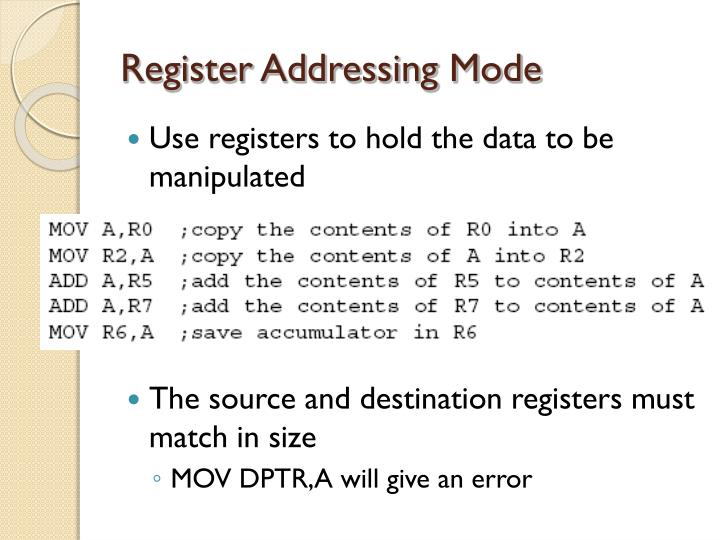 Register Addressing Mode