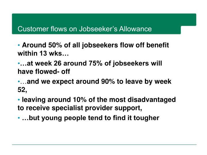 Customer flows on Jobseeker's Allowance