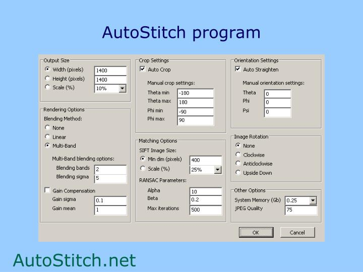AutoStitch program
